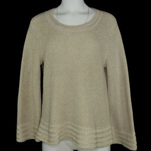 Style & Co Cable Knit Contrast Border Sweater  NWT